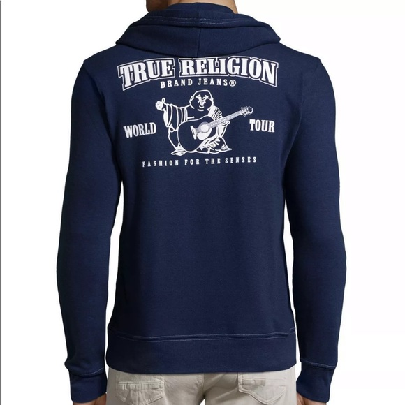True Religion Jackets Coats Mens Classic Buddha Logo Zip
